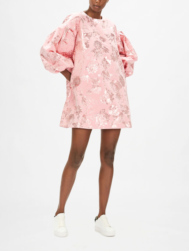 Francis Metallic Jacquard Dress