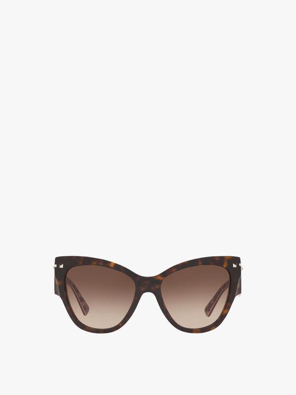 Wide Temple Cat-Eye Sunglasses