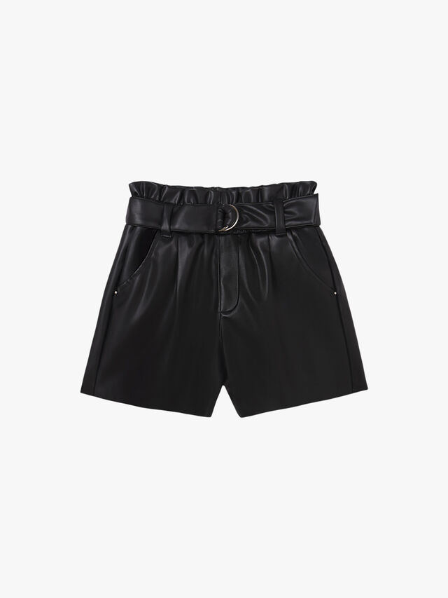 Leathered short
