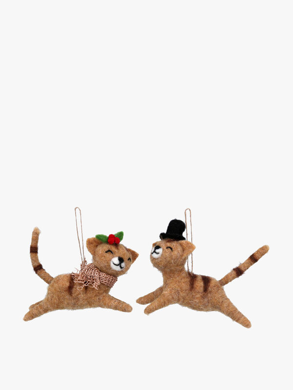 Leaping Cats Christmas Decoration