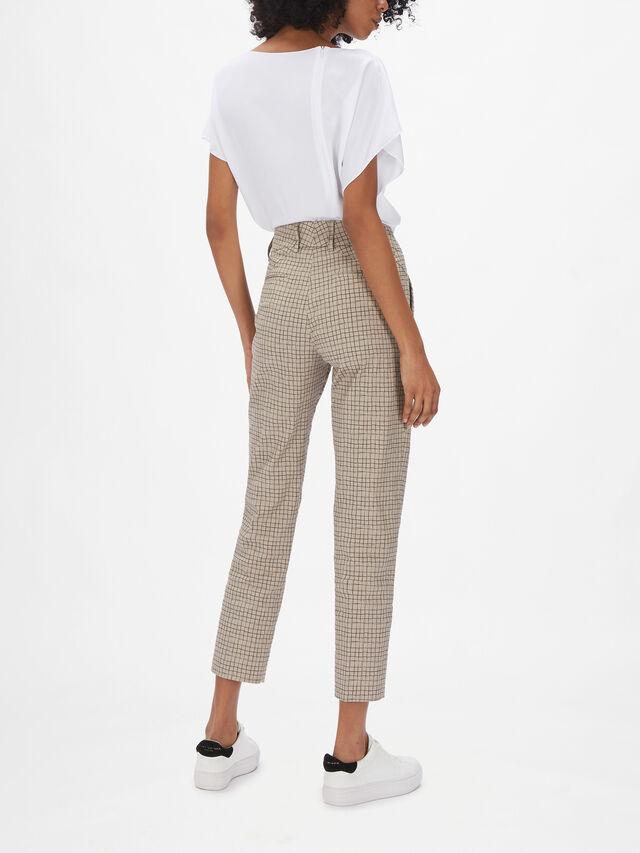 Kim Check Print Trouser