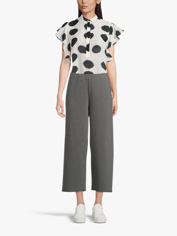 Ponte High Waisted Straight Leg Cropped Trouser