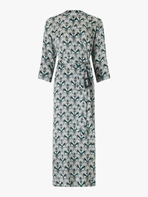 Mo Kimono Silk Satin Gown