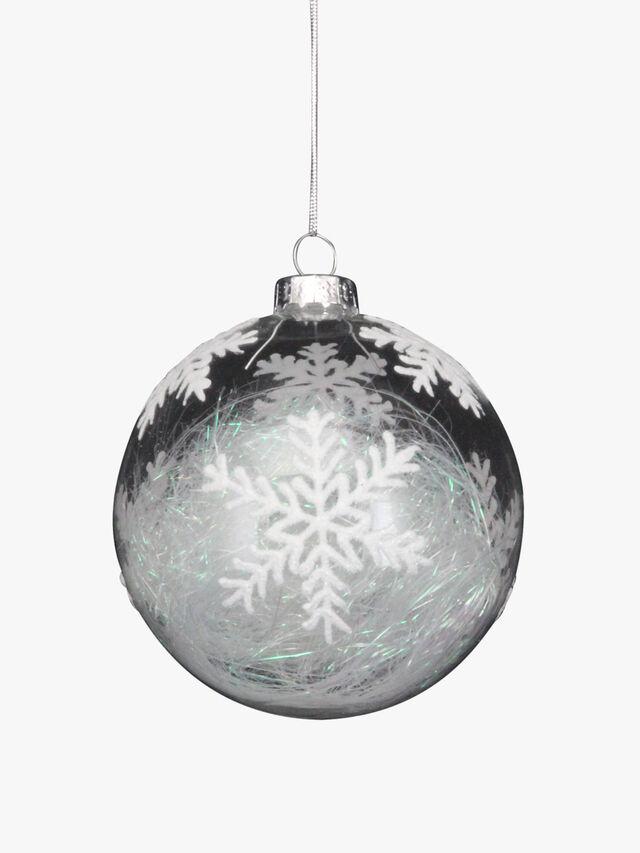 Christmas Tinsel Snowflake Decoration