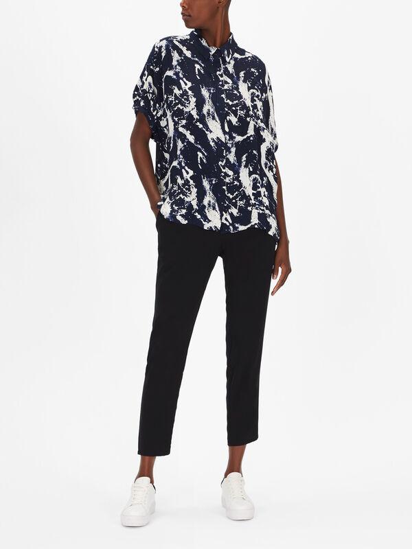 Iboni Marble Print Shirt