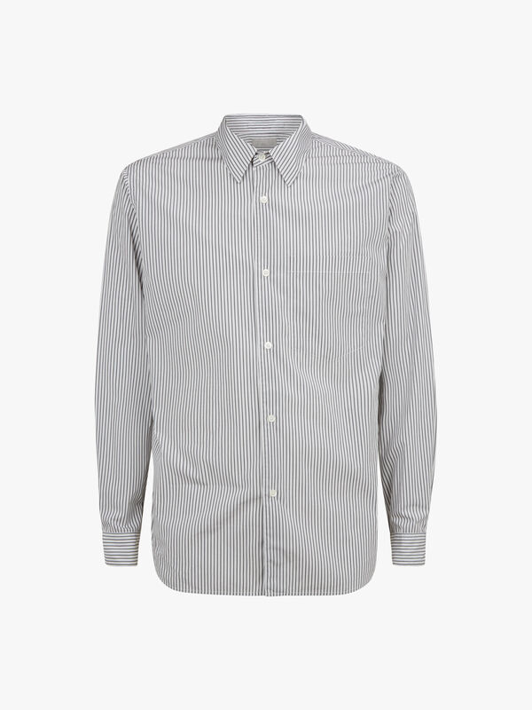 Washed Basic Stripe Shirt