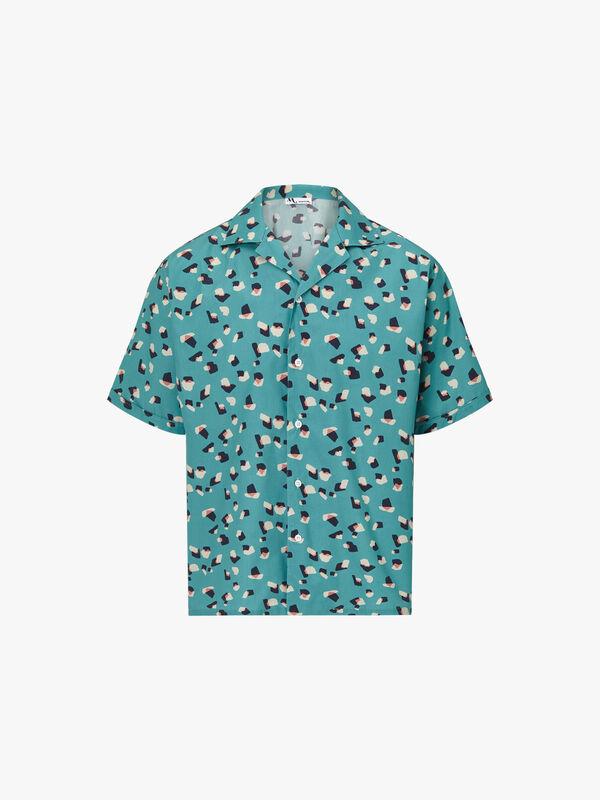 Cuban Collar All Over Print Shirt