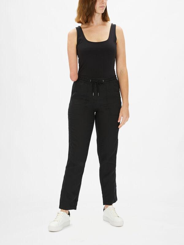 Linen Lisa D String EW Trouser