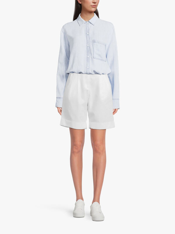 High Rise Shorts with Waist Pleats
