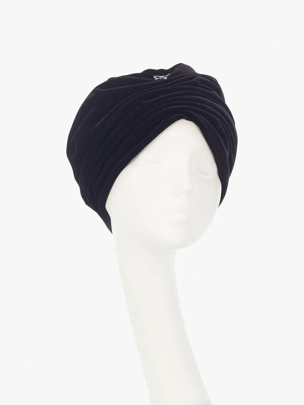 Velvet Turban with Bow Detail