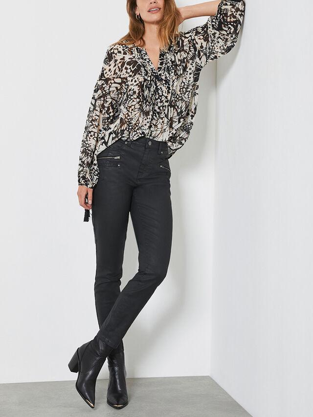 Denver Black Coated Jeans