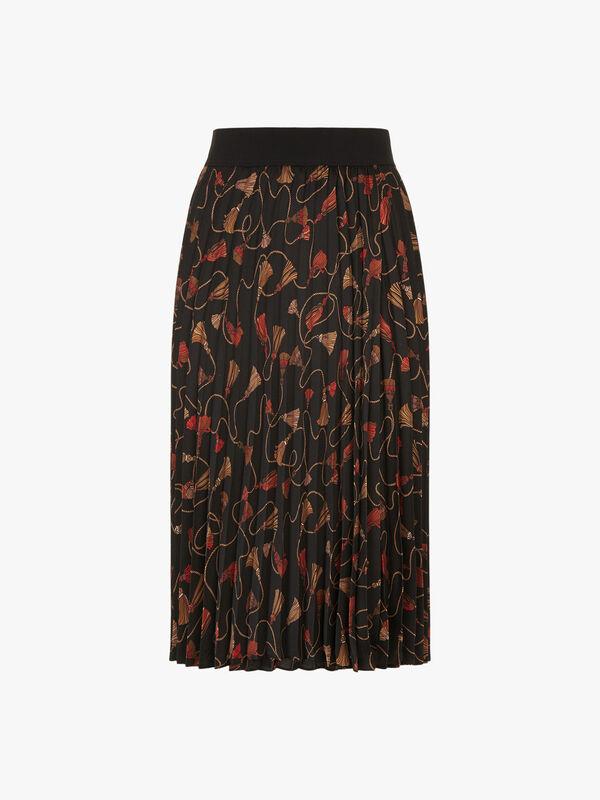 Nuevo Pleated Midi Skirt