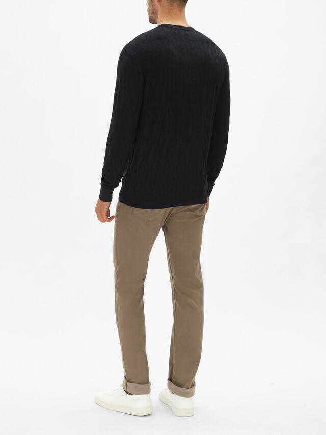 Diamond Knit Sweatshirt