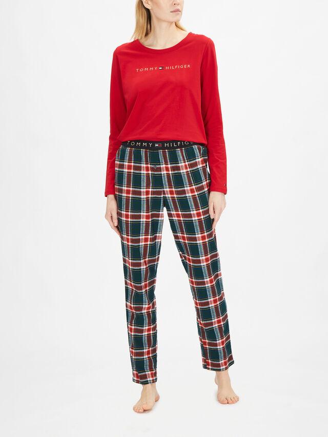Tommy Orginal Long Sleeve Flannel Holiday PJ Set