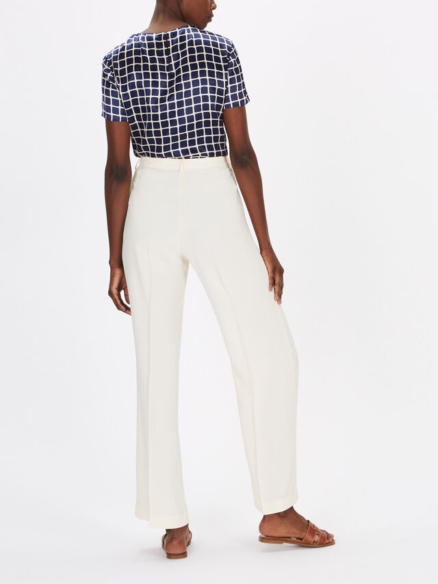 Wide Textured Trouser