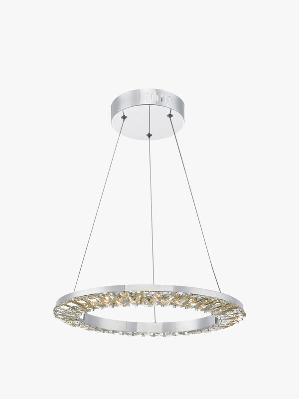 Altamura Pendant Polished Chrome Crystal LED