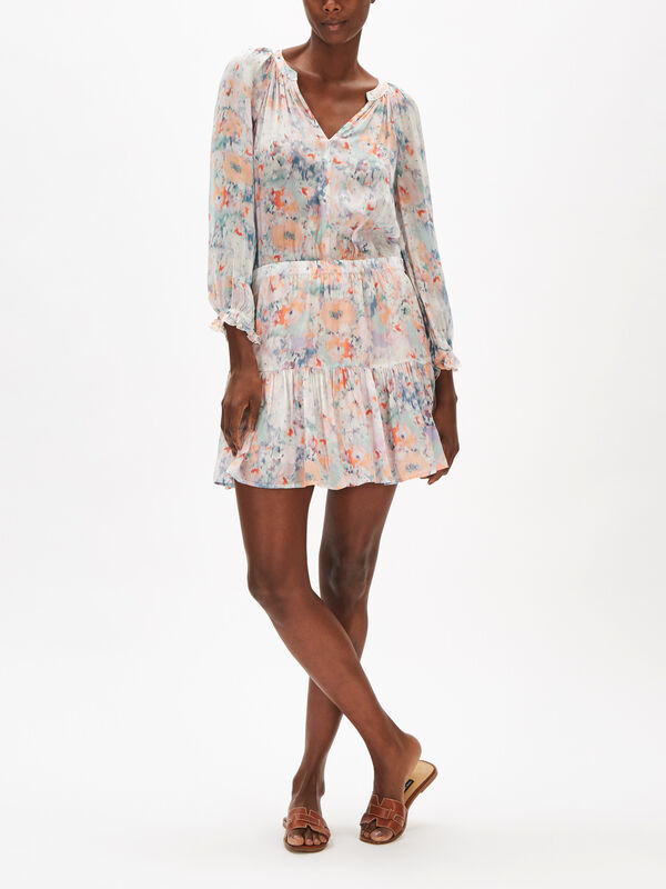 Leah Long Sleeve Short Viscose Dress