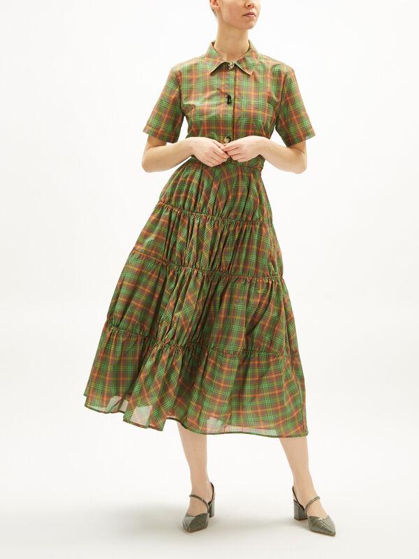 Eve Tiered Midi Skirt