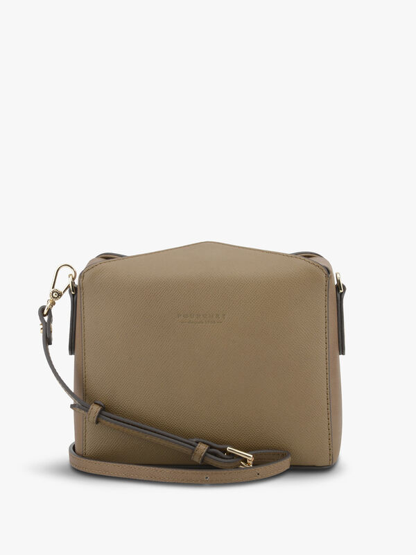 Cassetta Cowhide Leather Box Crossbody