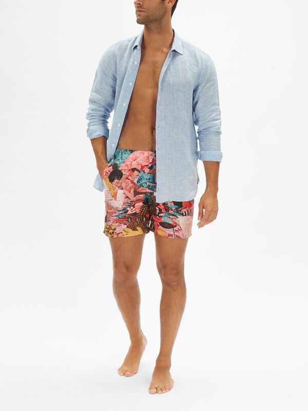 Bulldog Sunshine Diners Swim Shorts