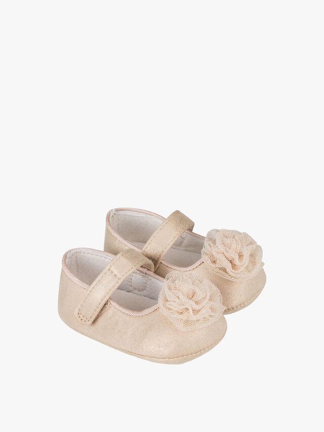 Tulle Rosette Trim Shoes