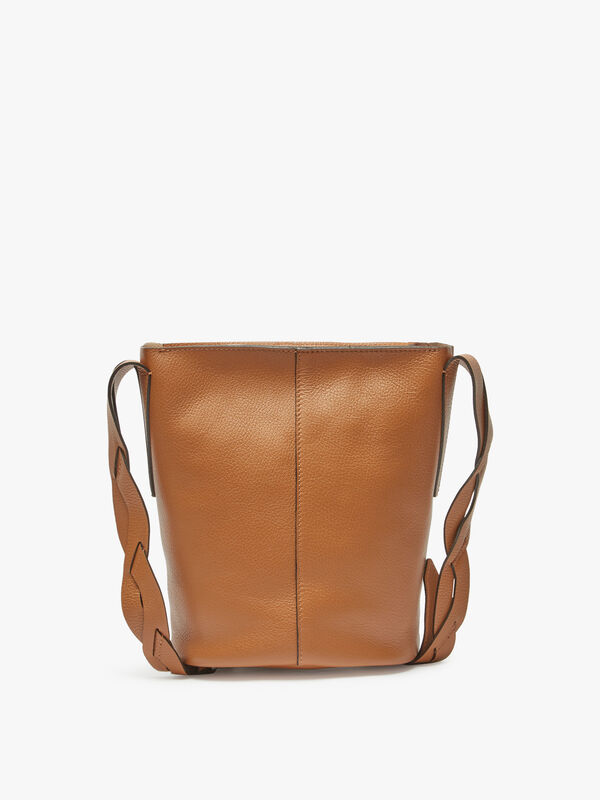 Alba Leather Bucket Crossbody