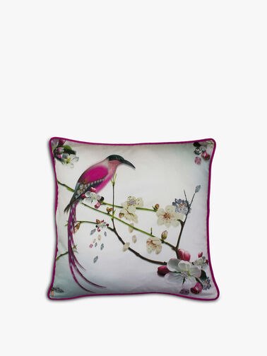 Flight of the Orient Feather Filled Cushion