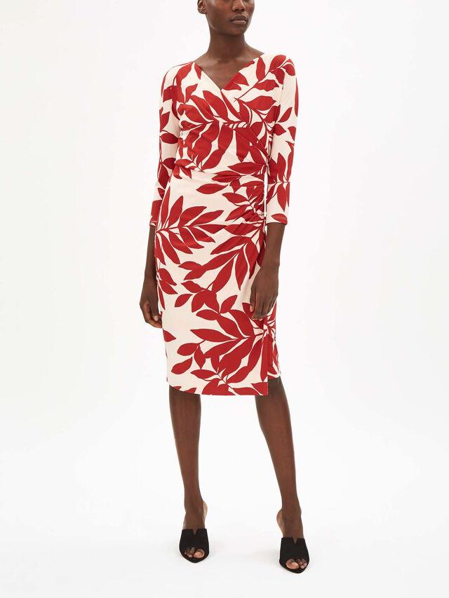 Bebbio Printed Wrap Dress