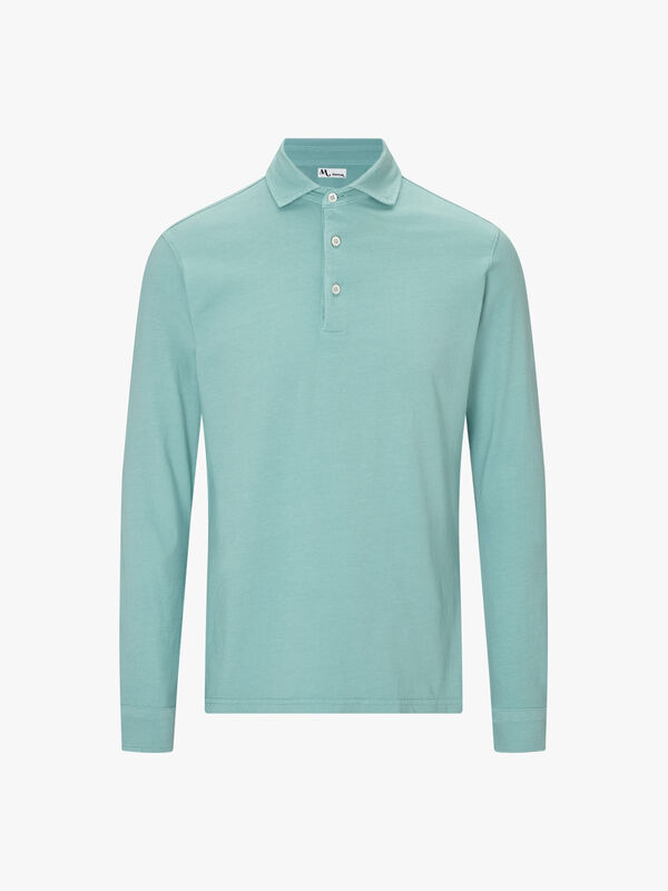 Soft Jersey Long Sleeve Polo