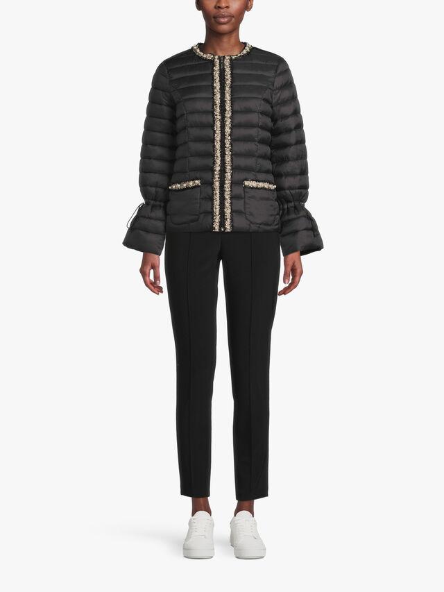 Embellished Trim Quilt Jacket