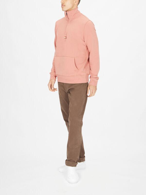 Mock Turtle Zip-Neck Sweatshirt