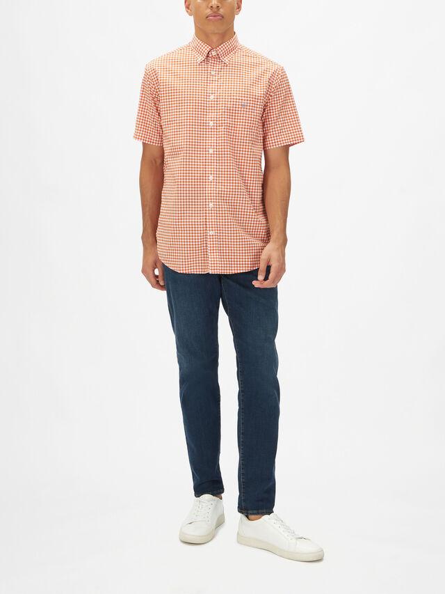 Shortsleeved Gingham Shirt