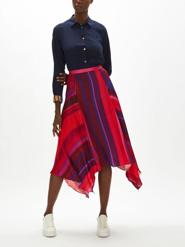 Hanky Hem Stripe Skirt