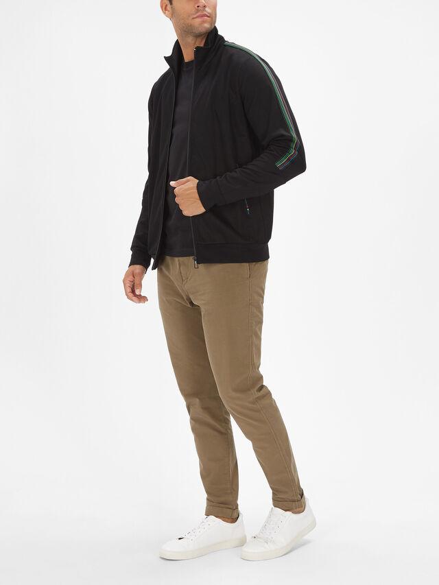 Side Stripe Zip Track Jacket
