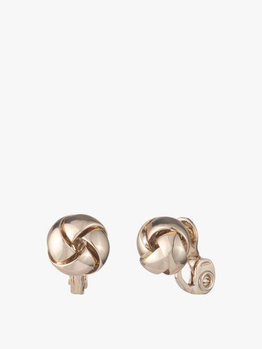 Knot Button Clip Earrings