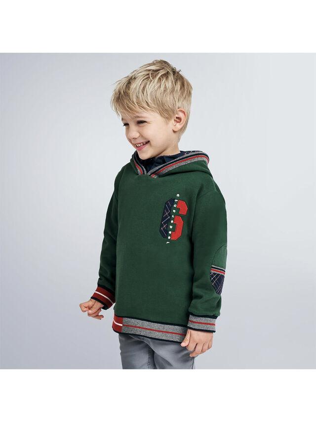 Sweatshirt With Tartan Hood