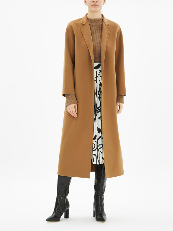 Double Face Wrap Coat