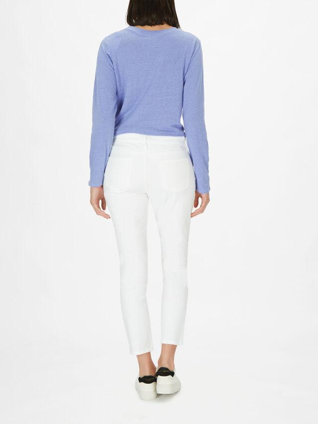 Slim Organic Cotton Stretch Ankle Jean