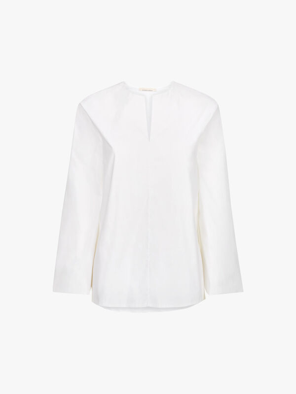 Wide Sleeve Cotton Shirt