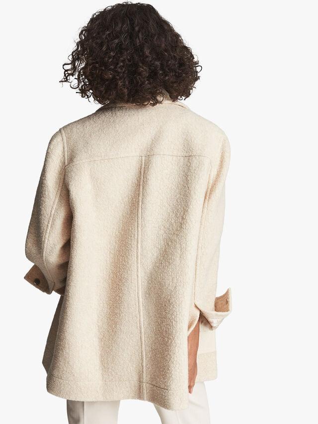 Lio Textured Wool Blend Shacket