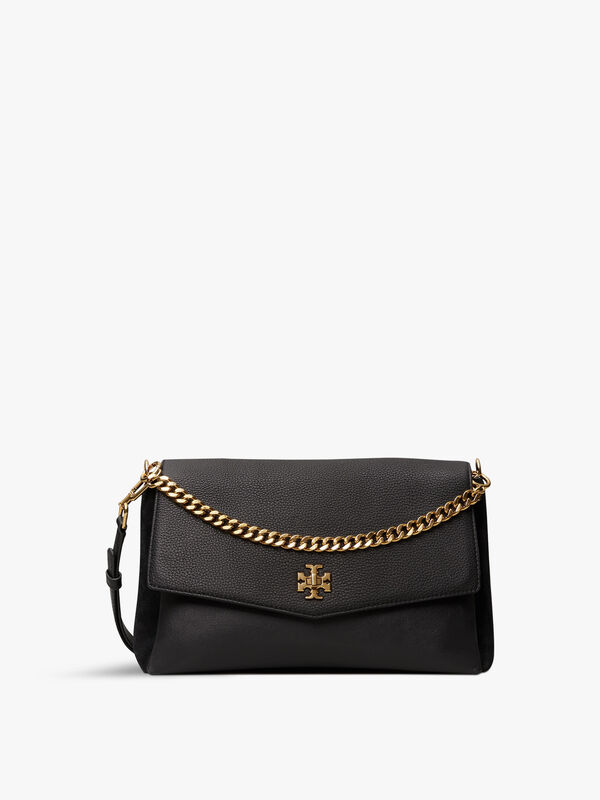 Kira Mixed Materials Shoulder Bag
