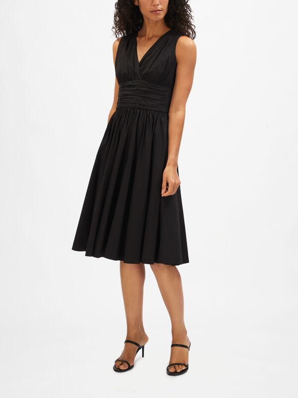 Poplin Cotton Midi Dress