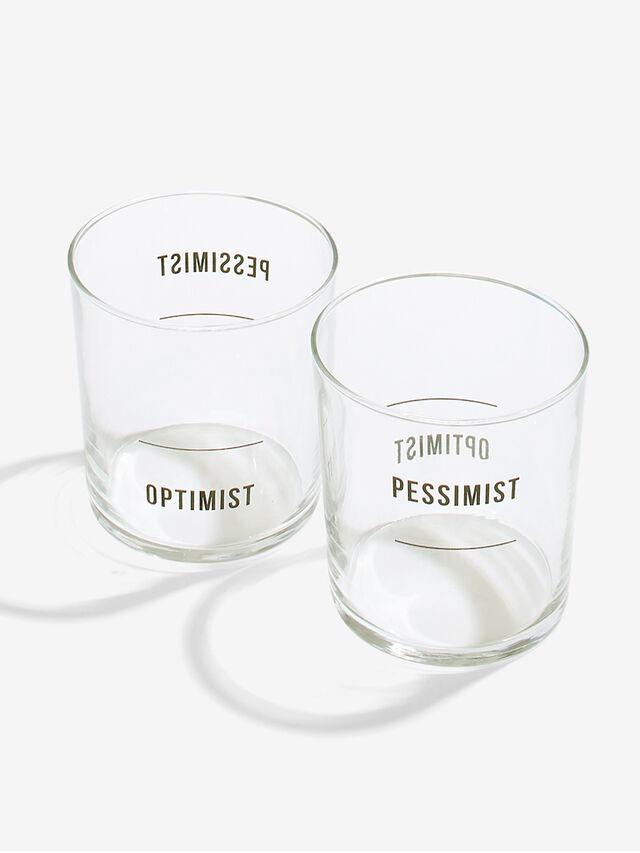 Optimist/Pessimist Homeware Glasses