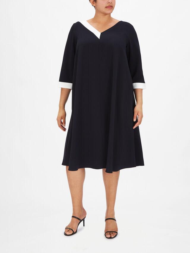 Duo Asymmetric Satin Dress