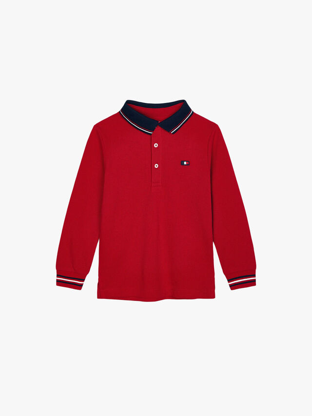 Long Sleeved Polo Top