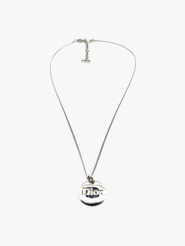 Vintage Dior Logo Pendant Necklace