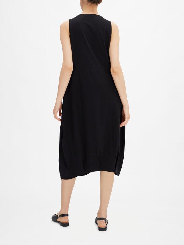 Fit Flare Jersey Lantern Midi Dress