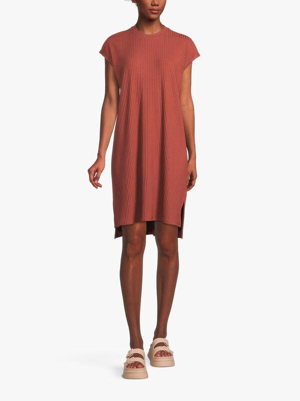 Textured Stretch Rib Dress