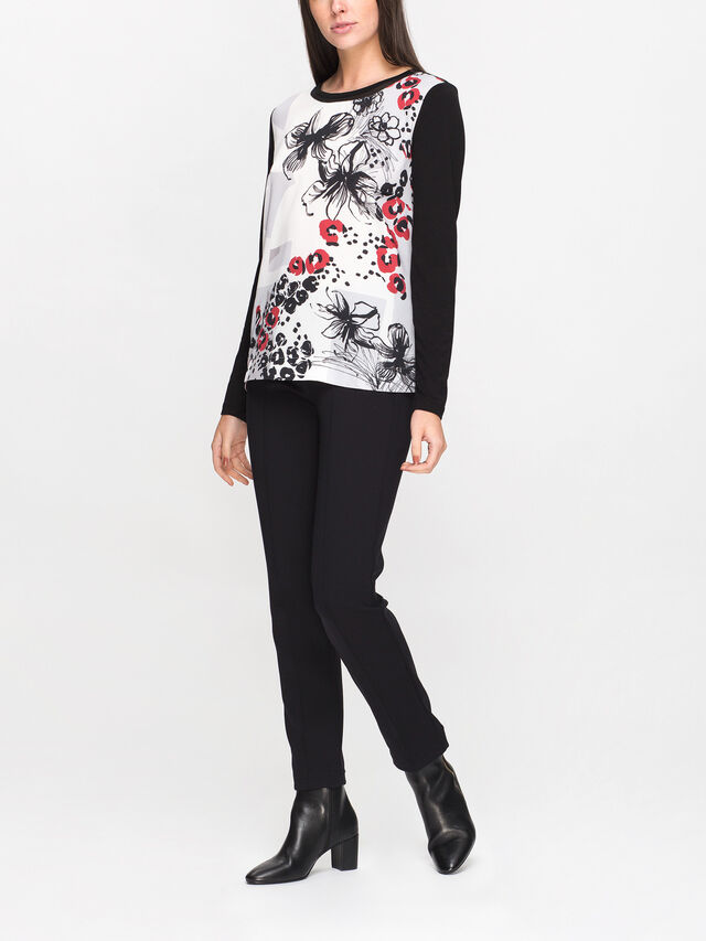 T-Shirt Printed Woven Front
