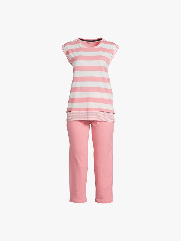 Alesha Short Sleeve Cropped Pyjama Set
